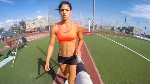 Take a Look at What it's Like to Flip With Pole Vaulter Allison Stokke